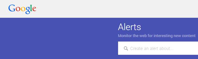 New & Flat: Google Alerts