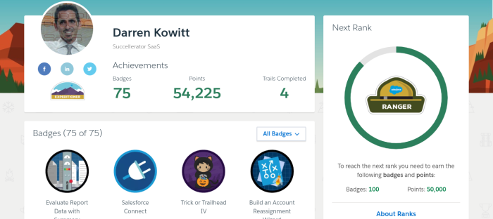 Salesforce Trailhead _ Darren Kowitt's Profile