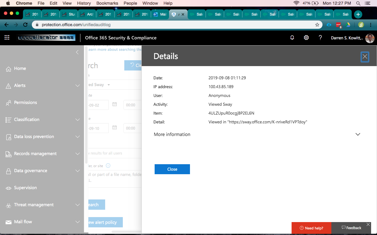Security And Compliance Screenshot